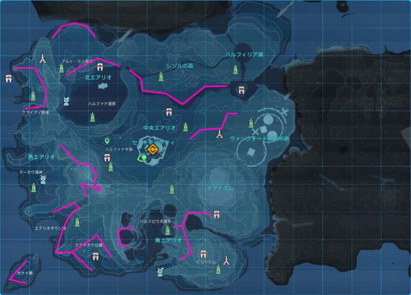 鉱石の分布図